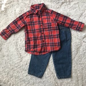 EUC - 2 Piece Baby Boys Outfit by Carter's - 18M